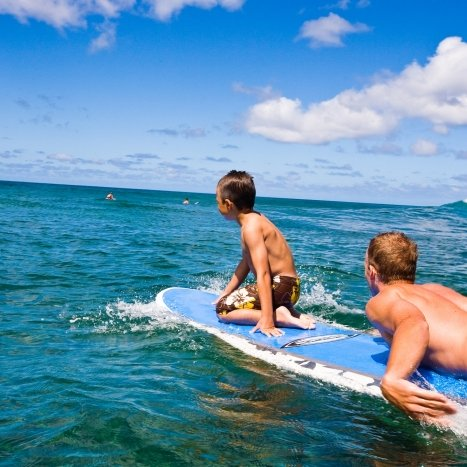 Surfer boys Hawaii