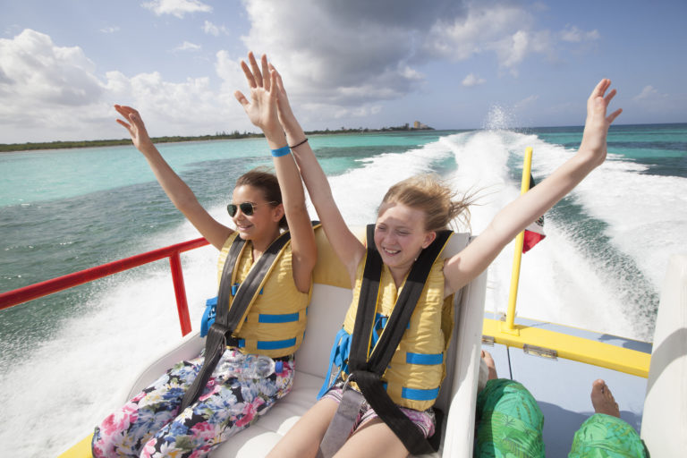 Cozumel Mexico Isla Pasion by Twister, family speedboat, boating, boat fun with kids, children, family adventure