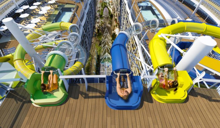 Royal Caribbean Harmony Cruise Ship slides