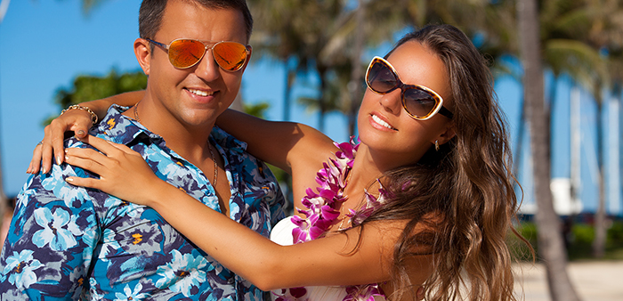 Young couple in Hawaii
