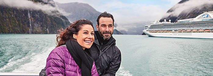 Couple Enjoying the Tracy Arm Fjord Juneau Alaska