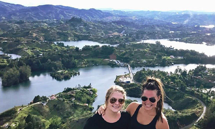 mady and kim in colombia