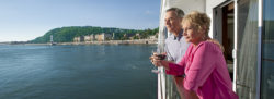 River cruise balcony couple